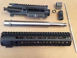 10.5 inch 300 AAC stainless steel build kit with key mod rail minus BCG and charging handle