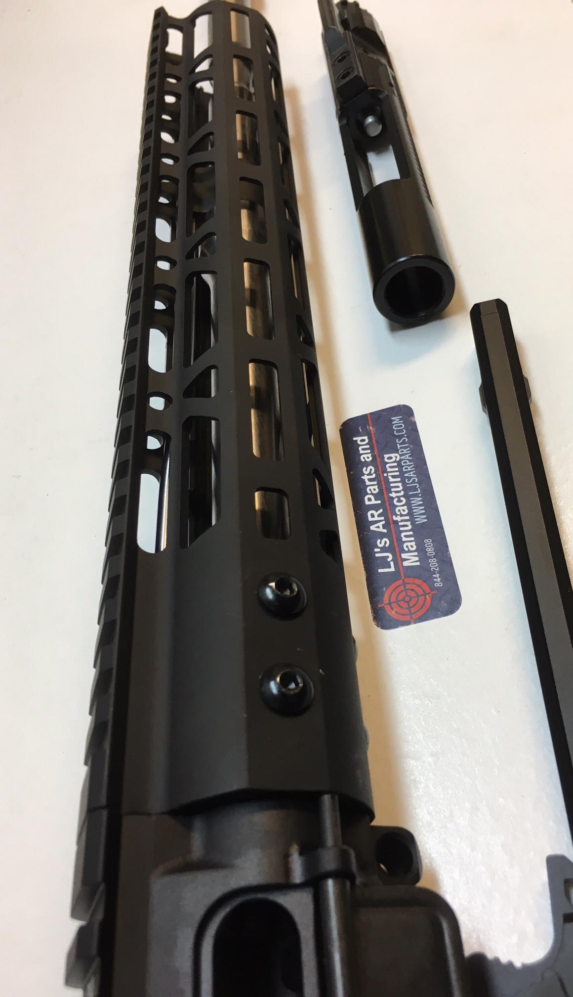 LJ's AR15 -Billet 16 inch Stainless steel Complete upper receiver in 6 5  Grendel