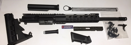Complete Ar15 Upper receiver- 9mm Upper with 16 inch barrel and 12 inch 1/4  ultra slim key mod rail -With Hybrid BCG and Charging handle 6 positions