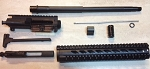 16 inch 7.62x39 complete upper build kit with 12 inch free float rail.