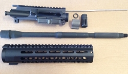 billet - key mod -16 inch parkerized 4150V build kit minus bcg and charging handle 5.56/.223