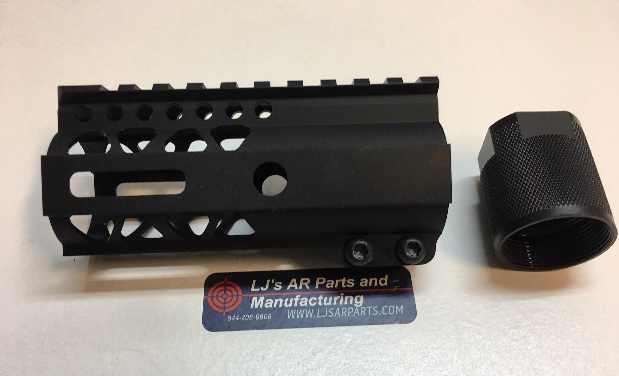 Ar15 4 Inch Ultra Slim Free Float Mlok Rail Clamp Series