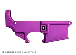 PURPLE anodized 80% lower receiver- AR15 7075 80% lower