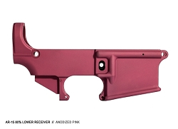 PINK 80% lower receiver- AR15 7075 80% lower