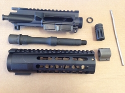 7.5 inch 5.56/.223 KEY MOD build kit minus bcg and charging handle with billet upper