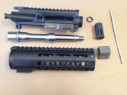7.5 inch STAINLESS STEEL 5.56/.223 KEY MOD build kit minus bcg and charging handle with billet upper