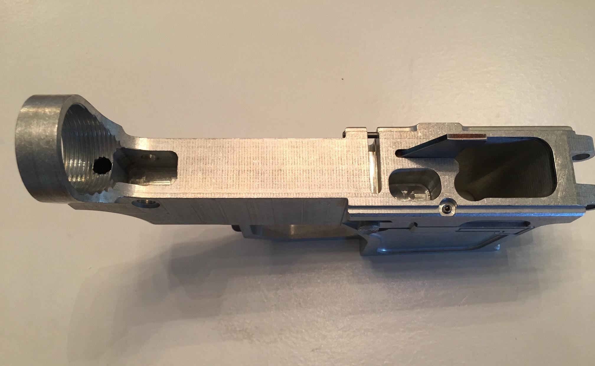 ar15 80 9mm billet lower receiver works for all glock 9mm 40