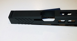 Glock 26 custom slide - Black in color- fits gen 1-4