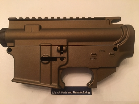 LJ's Parts AR15 BURNT BRONZE 80% lower and stripped upper receiver- AR15  7075 80% lower