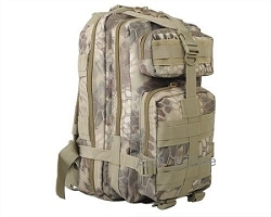 HLD kryptic pattern Molle Tactical 3-Pocket Hydration Assault Backpack Bag tan,brown camo color