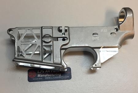 lj s parts ar15 skeletonized ar15 billet 80 lower receiver raw