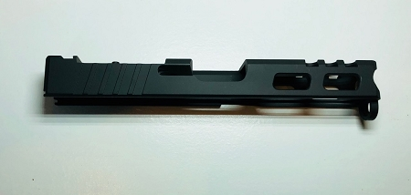 GLOCK 19 - 9mm CUSTOM SLIDE WITH VORTEX VENOM CUT OUT AND CUSTOM CUT OUTS-  GEN 3- BLACK