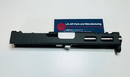 GLOCK 19 - 9mm CUSTOM SLIDE WITH VORTEX VENOM CUT OUT AND CUSTOM CUT OUTS-  GEN 3- BLACK