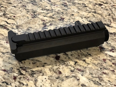 LJ's AR 15 Billet Left side charging upper receiver with nitride Bolt  carrier group AR-15   5 56/ 223/300 AAC