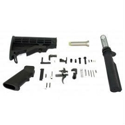 Sale: Lower parts build kit with - Lower parts kit and complete 6 position stock and Mil Spec buffer tube kit.