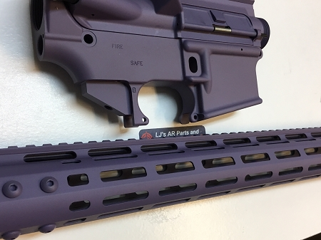 Purple - Complete upper 15 inch MLOK rail and lower 80% set - AR15