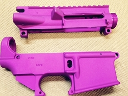 PURPLE anodized 80% lower and stripped upper receiver- AR15 7075