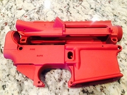 RED  80% lower and stripped upper receiver- AR15  80% lower