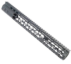 AR15- 12 inch slim 1/4 key mod hand guard