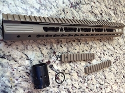 AR15- 15 inch Flat Dark Earth ultra Slim KeyMod - Pyramid series