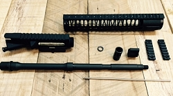 16 inch complete upper build kit with match grade 4150V 5.56/.223 wylde barrel WITH 12 inch Key mod hand guard-minus BCG and charging handle