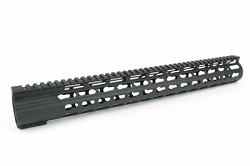 LJ's AR10 . 7.62x51 / 308 --  15 Inch ULTRA LIGHTWEIGHT THIN KEYMOD  AR15 Clamp on style