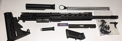 Complete Ar15 Upper receiver- 9mm Upper with 16 inch barrel and 12 inch 1/4 ultra slim key mod rail -With Hybrid BCG and Charging handle 6 positions stock kit and complete lower parts kit