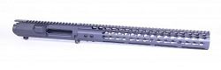 AR10 / 308 Billet stripped upper and 15 inch slim key mod rail in SNIPER GREY