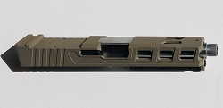 Glock 19 LFA Elite complete slide with RMR cutouts and all internal parts installed with match grade barrel - Done in Flat dark earth - FDE fits GEN 1,2, and 3