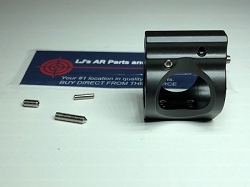 AR15 or AR10 - Adjustable Low Profile Gas Block with Screws and Roll Pin- GEN 2 with set screw for gas block