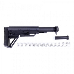 AR15 - 6 position stock and mil spec buffer tube kit- Extreme Stock kit in black