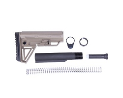 AR15 - 6 position stock and mil spec buffer tube kit- Extreme Stock kit in Flat dark earth