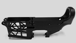 AR15- SKELETONIZED  AR15 BILLET 80% lower receiver in Black