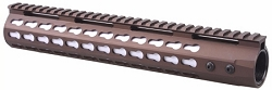 7 INCH ULTRA SLIM KEY MOD RAIL IN BURNT BRONZE COLOR - AR15