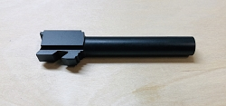 Glock 17 match grade barrel - done in nitride finish - enlarged feed ramp -non threaded