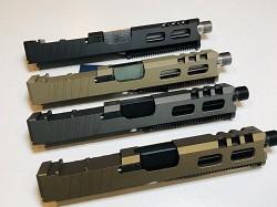 GLOCK 19 - 9mm CUSTOM SLIDE WITH Vortex Viper CUT OUT AND CUSTOM CUT OUTS-  GEN 3 - fits gen 1,2,3 - NEW DESIGN VORTEX VIPER