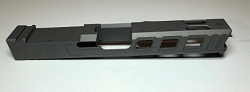 GLOCK 17 CUSTOM SLIDE WITH RMR CUT OUT AND CUSTOM CUT OUTS- GEN 3- Tungsten