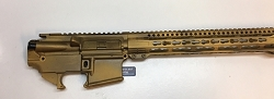 AR15 Battle Worn Upper and 80% lower set - done in Gold and black - 5.56/.223/300 AAC/ 7.62x39/ 6.8/