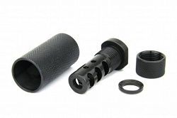 AR15 Cover shot muzzle brake with shield