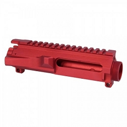 AR15 STRIPPED BILLET UPPER RECEIVER in RED