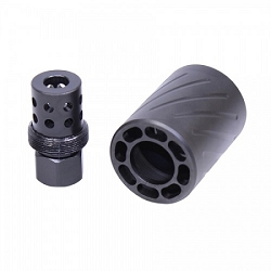 AR-9- 1/2x36  9mm Multi hole muzzle brake with Quick detach blast shield -- Called the American Shield muzzle brake - MICRO