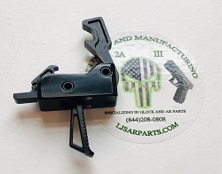 AR15 / AR10 3.5 LB DROP IN TRIGGER - STRAIGHT TRIGGER SKELETON CUT  -  MATCH GRADE SINGLE-STAGE DROP-IN TRIGGER in black