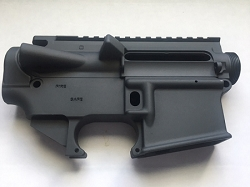 AR15- TUNGSTEN GRAY  80% lower and stripped upper receiver- AR15 7075 80% lower
