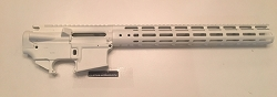 White- Complete upper 15 inch MLOK rail and lower 80% set - AR15