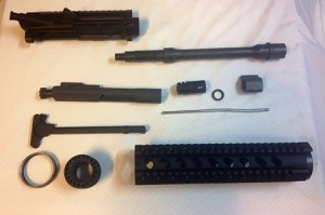 10.5 inch m4 profile parkerized complete upper build kit
