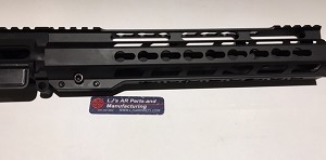 Ar15- 9mm Upper with 16 inch barrel and 12 inch 1/4 ultra slim key mod rail - minus BCG and Charging handle.