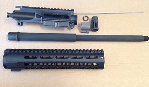 16 inch 7.62x39 upper build kit minus bcg and charging handle with BILLET UPPER AND KEY MOD RAIL