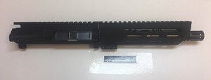 AR15 - 10 inch slim MLOK slant rail --- ONLY 7.9 OZ.