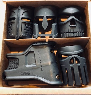 FAB MAGWELL GRIP package- Newest magwell package comes with all 4 face inserts - MOJO grips