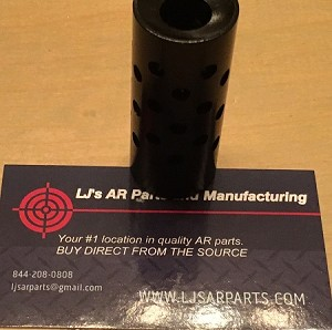 450 bushmaster multi hole muzzle brake in nitride finish